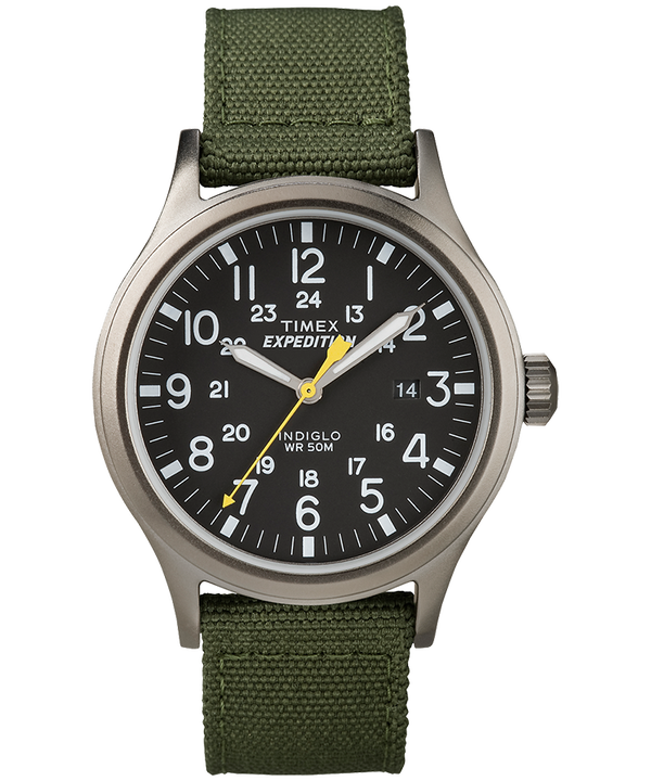 Expedition Scout 40mm Nylon Strap Watch Gray/Green/Black large