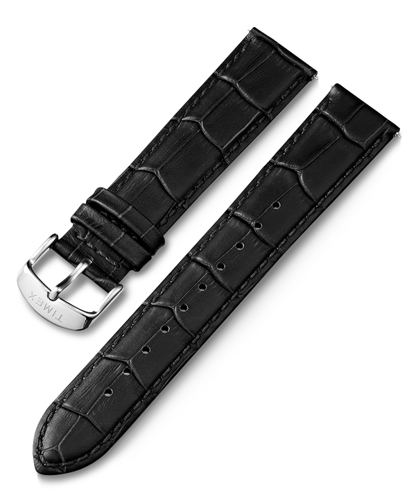 20mm Crocodile Pattern Quick Release Leather Strap  large