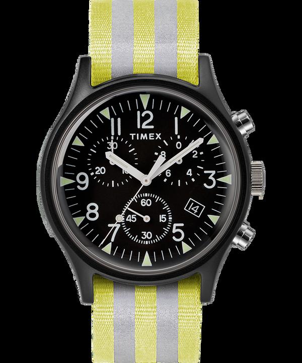 MK1 Aluminum Chrono 40mm Reflective Nylon Strap Watch  large