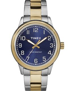 New England 40mm Stainless Steel Watch Two-Tone/Blue large