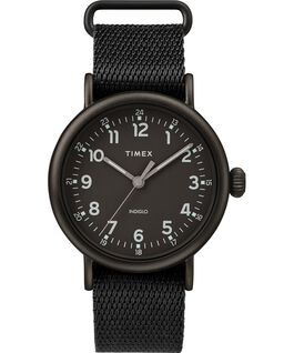Standard 40mm Fabric Strap Watch Black large