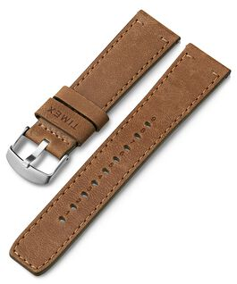 22mm Quick Release Leather Strap Tan large