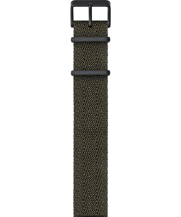 Military-Inspired Weave Strap Green large