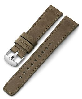 20mm Quick Release Leather Strap Green large