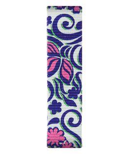 Blue/Pink Pattern Nylon Slip-thru Strap  large
