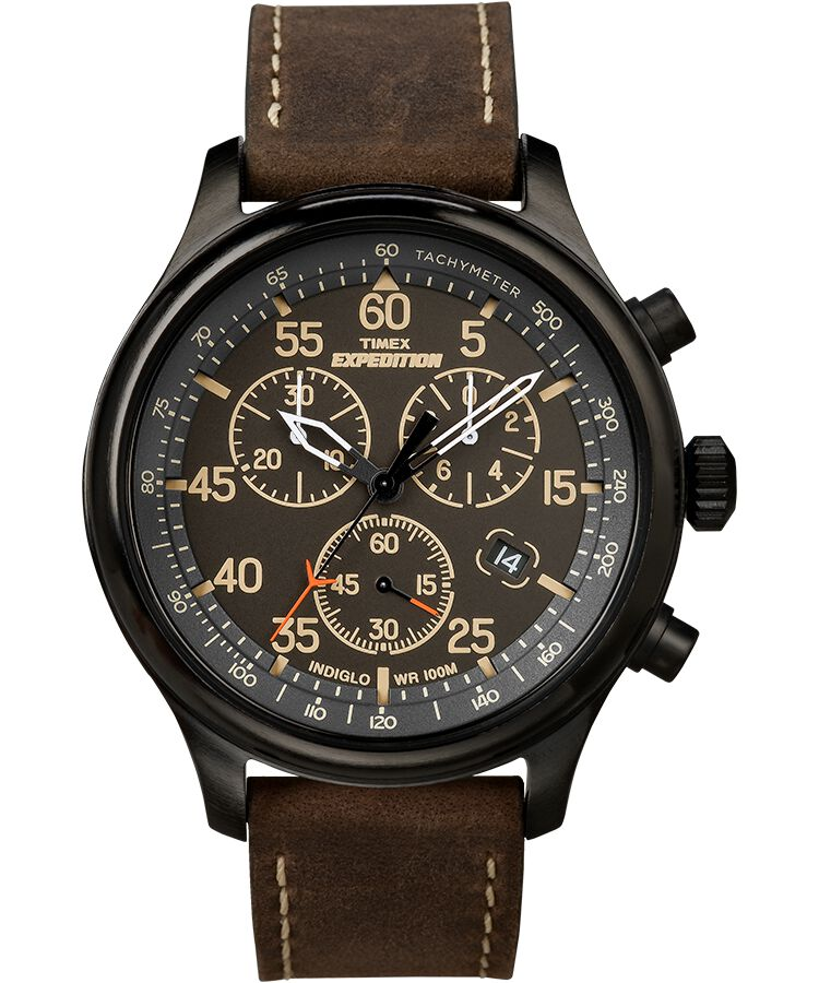 ef9fbd572a85 Expedition Field Chronograph 43mm Leather Watch