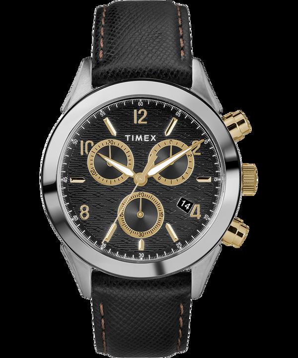 Torrington Mens Chronograph 40mm Leather Strap Watch  large