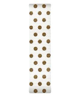 Cream / Gold Dots Nylon Slip-thru Strap  large
