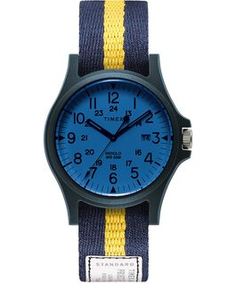 Acadia 40mm Fabric Strap Watch Blue/White/Blue large