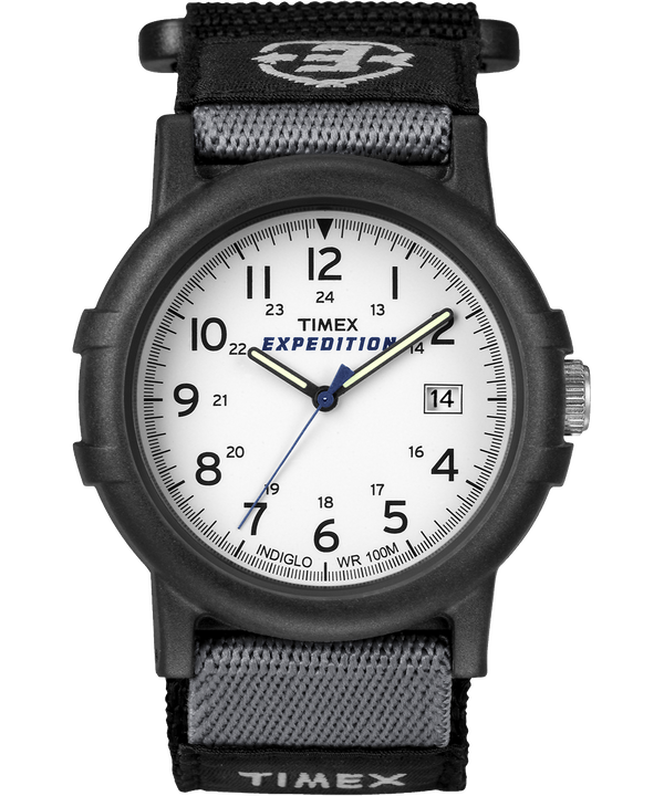 Expedition Camper 38mm Nylon Strap Watch Black/White (large)