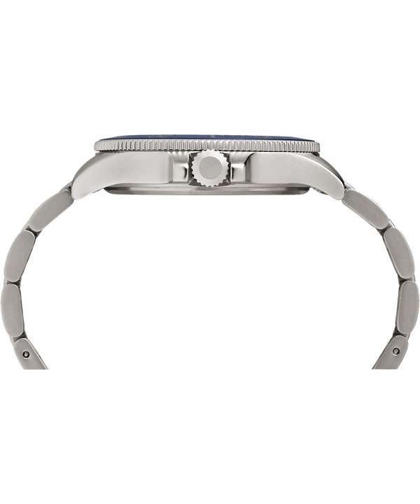 Allied Coastline 43mm Bracelet Watch Silver-Tone/Blue large