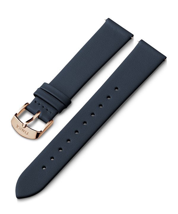 18mm Rose Gold Tone Buckle Leather Strap  large