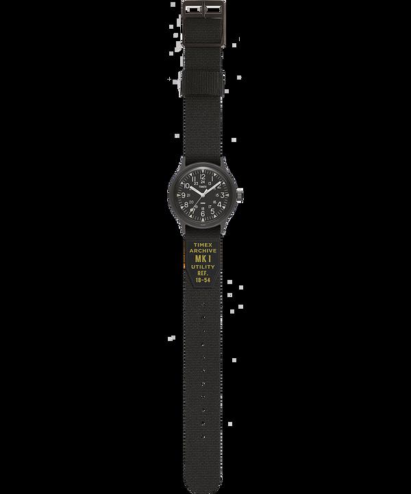 MK1 Military 36mm Grosgrain Strap Watch Black large