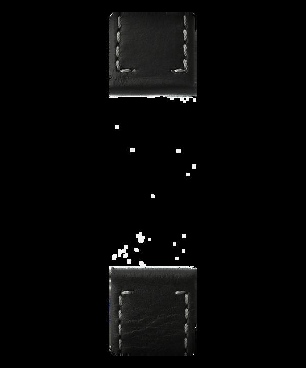 Black Leather 2-piece Strap  large