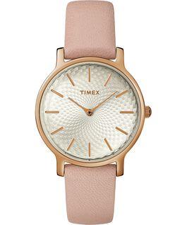 Metropolitan 34mm Leather Watch Rose-Gold-Tone/Pink large