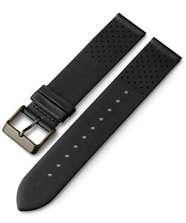 20mm Quick Release Leather Strap with Perforations 1 Black large