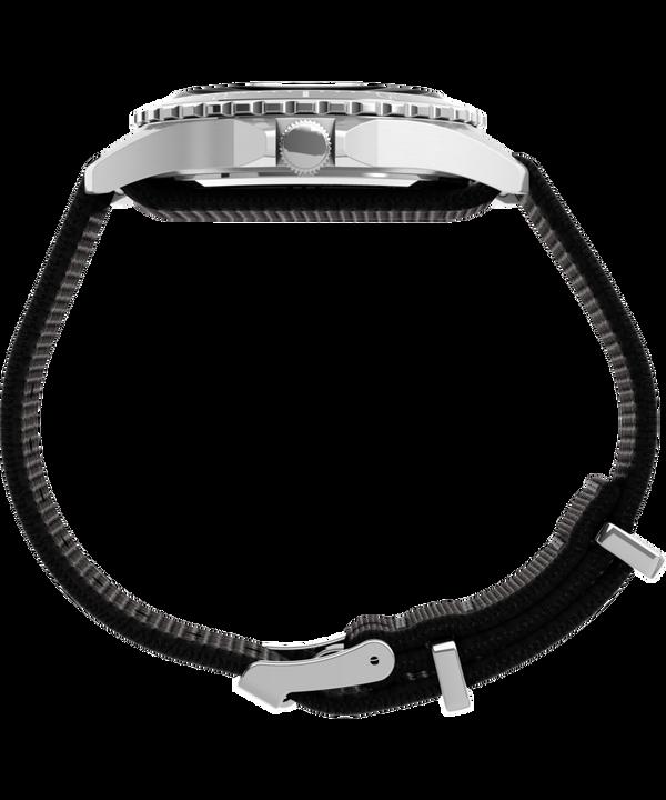 Navi XL 41mm Fabric Slip-Thru Strap Watch Stainless-Steel/Black large