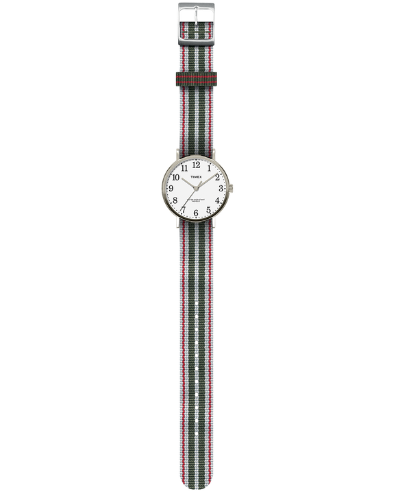 Fairfield Village 37mm Reversible Grosgrain Strap Watch  large