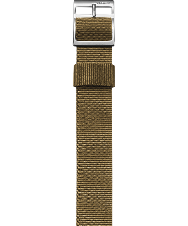 Military Inspired Grosgrain Slip-Thru Strap Tan large