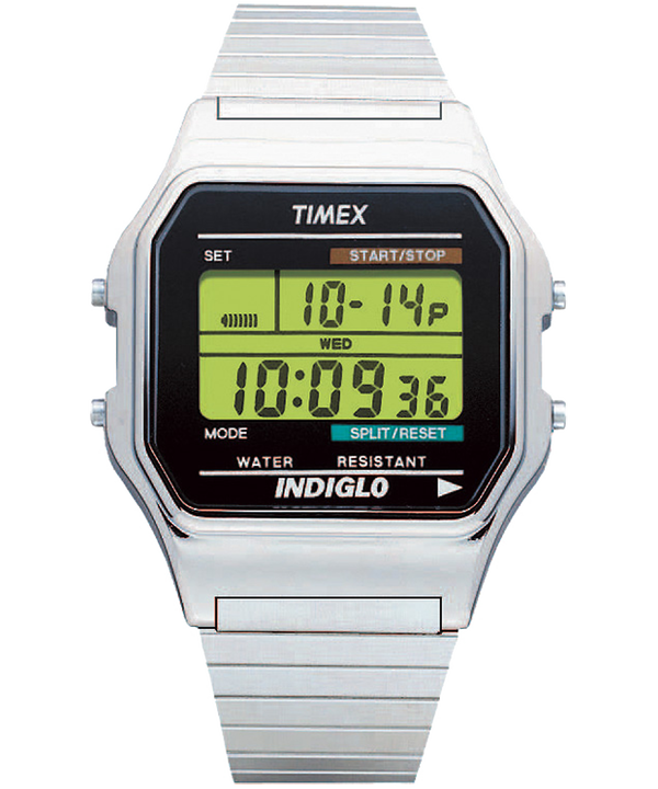 Classic Digital 34mm Stainless Steel Watch  large
