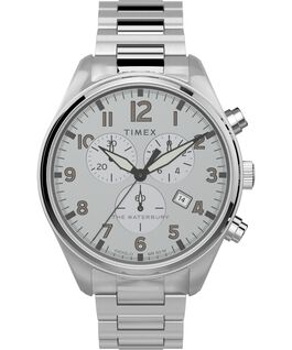 Waterbury Traditional Chronograph 42mm Stainless Steel Bracelet Watch Stainless-Steel/Silver-Tone large