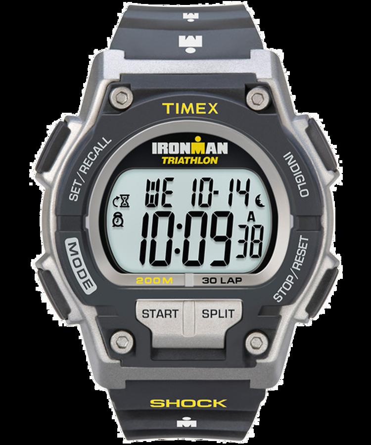 Ironman Original 30 Shock Full Size 42mm Resin Strap Watch Timex