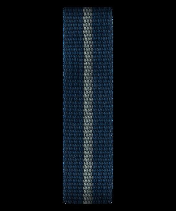 Blue/Gray Nylon Slip-thru Strap  large