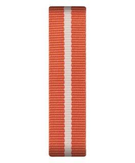 Orange/White Nylon Slip-thru Strap  large