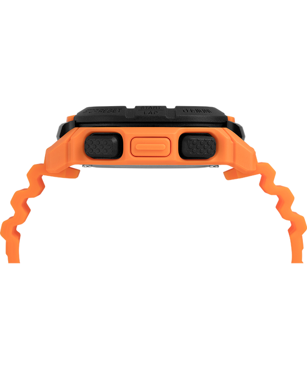 Command™ 47mm Silicone Strap Watch Orange/Black large