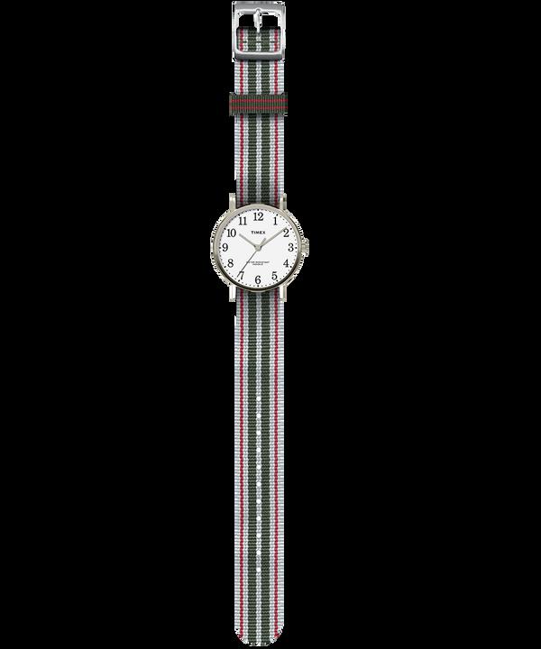 Fairfield Village 37mm Reversible Grosgrain Strap Watch  large