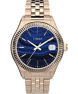 Waterbury Legacy 34mm Stainless Steel Bracelet Watch Rose-Gold-Tone/Blue large