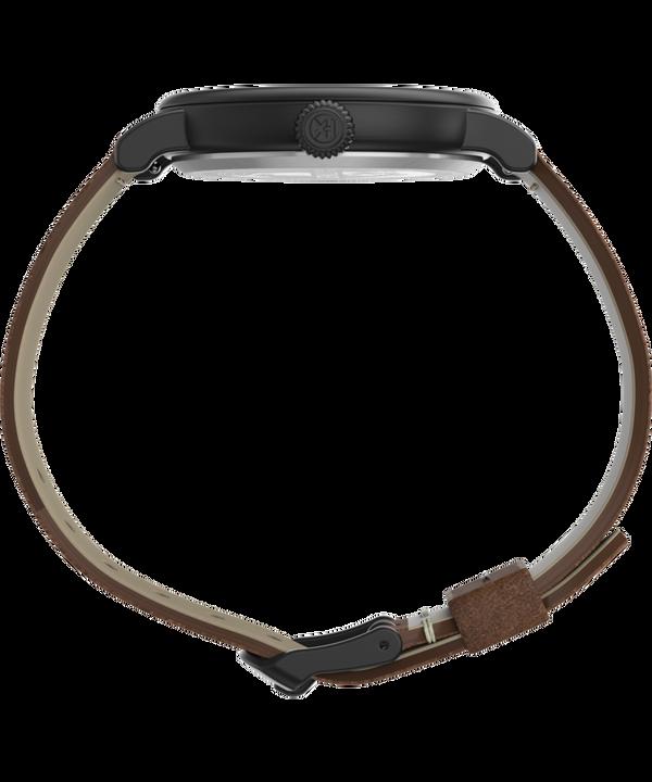 Standard 40mm Leather Strap Watch Black/Brown/Black large