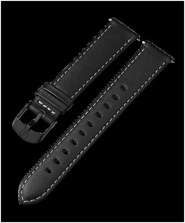 18mm Leather Strap Black large