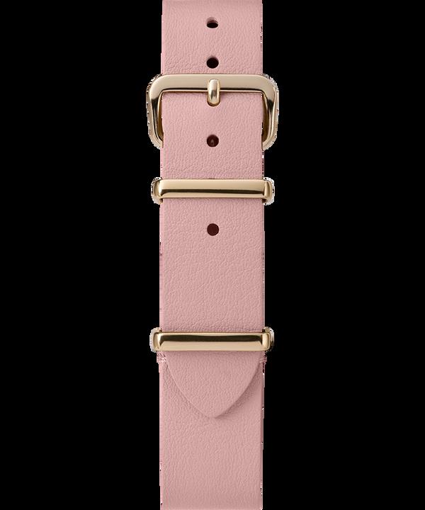 16mm Leather Slip-Thru Single Layer Strap Pink large
