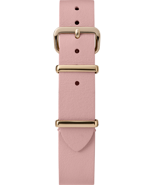 16mm Leather Slip-Thru Single Layer Strap Pink large