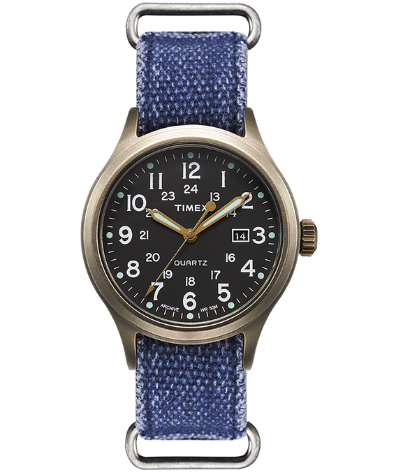 Allied 40mm Stonewashed Fabric Strap Watch  large