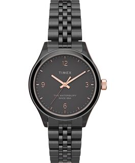 Waterbury Classic 34mm Watch Stainless Steel Gunmetal/Black large