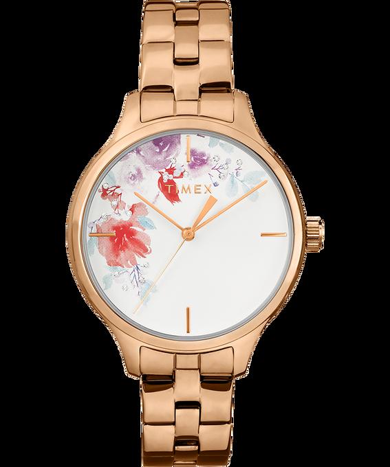 Crystal Bloom 36mm Rose-Gold Bracelet Rose-Gold-Tone/White large