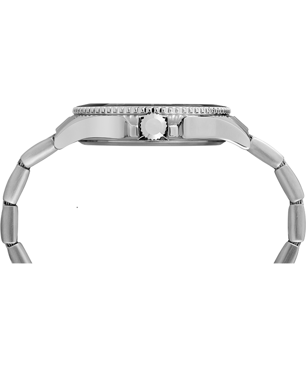 Harborside 42mm Bracelet Watch Chrome/Silver-Tone/Black large