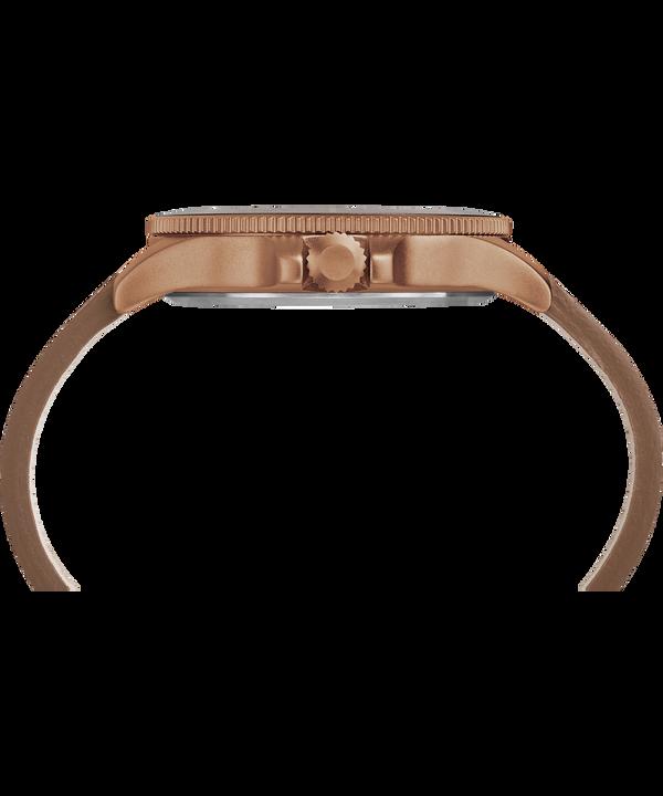 Allied Coastline 43mm Leather Strap Watch Bronze-Tone/Brown large