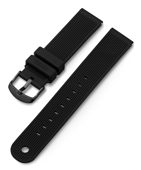 20mm Silicone Strap Black (large)