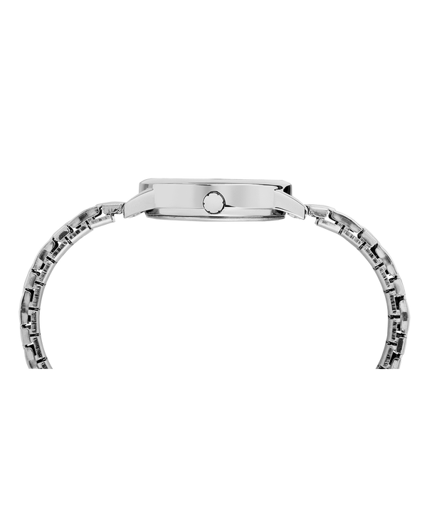 Easy Reader 30mm Expansion Band Watch Chrome/Silver-Tone/White large