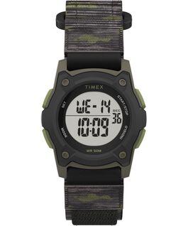 Kids Digital 35mm Fast Wrap Strap Watch Black/Green/Gray large