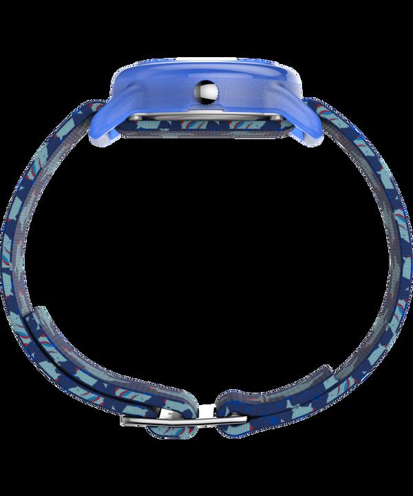 Kids Analog 28mm Elastic Fabric Strap Watch