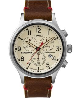 2e9504265eb Expedition Scout Chronograph 42mm Leather Strap Watch