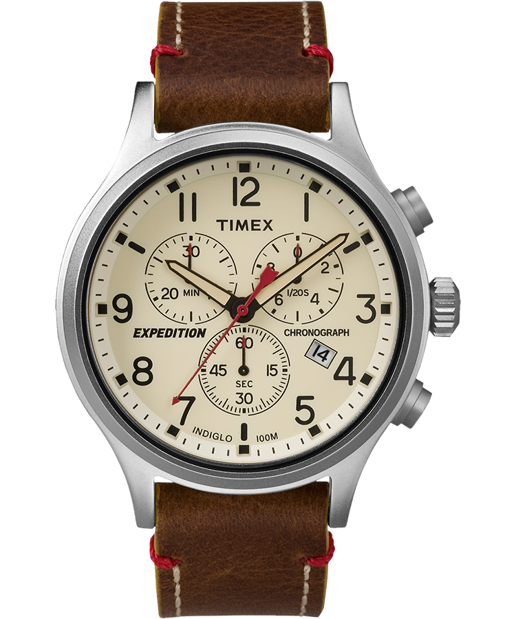expedition scout chronograph 42mm leather watch timex rh timex co uk Timex Wr50m Indiglo Instruction Manuals Timex Wr50m Indiglo Instruction Manuals