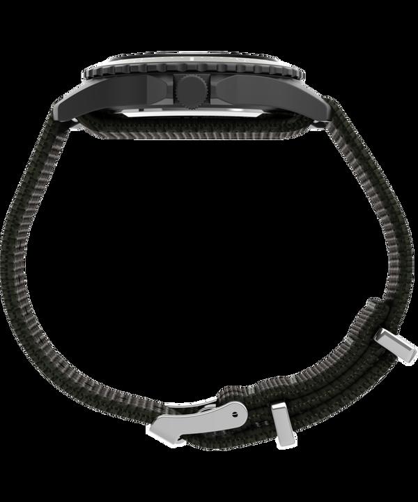 Navi XL 41mm Fabric Slip-Thru Strap Watch Gunmetal/Green/White large