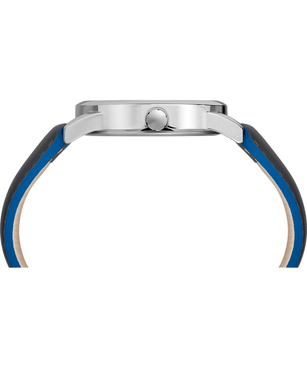 Easy Reader Color Pop 38mm Leather Strap Watch Chrome/Gray/Blue large