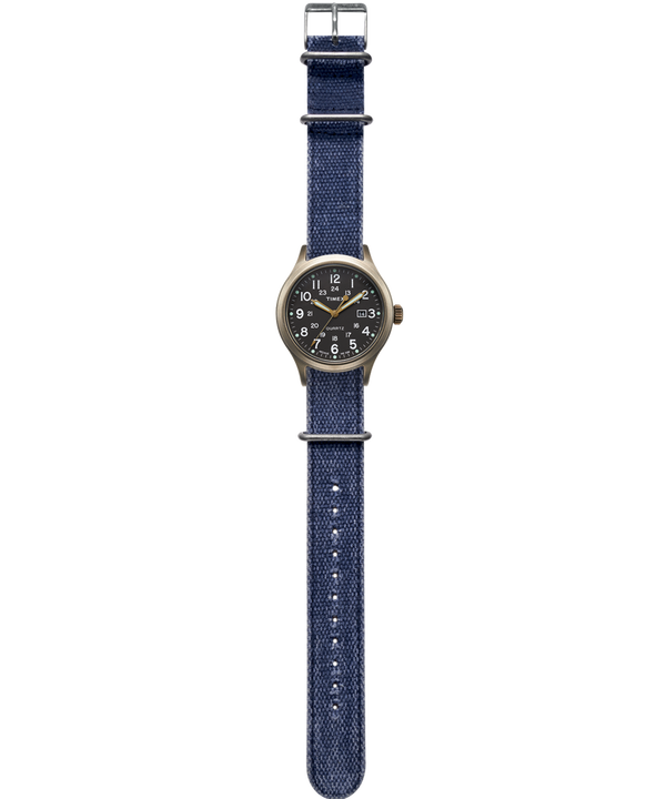 Allied 40mm Stonewashed Fabric Strap Watch