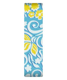 Blue/Yellow Pattern Nylon Slip-thru Strap  large